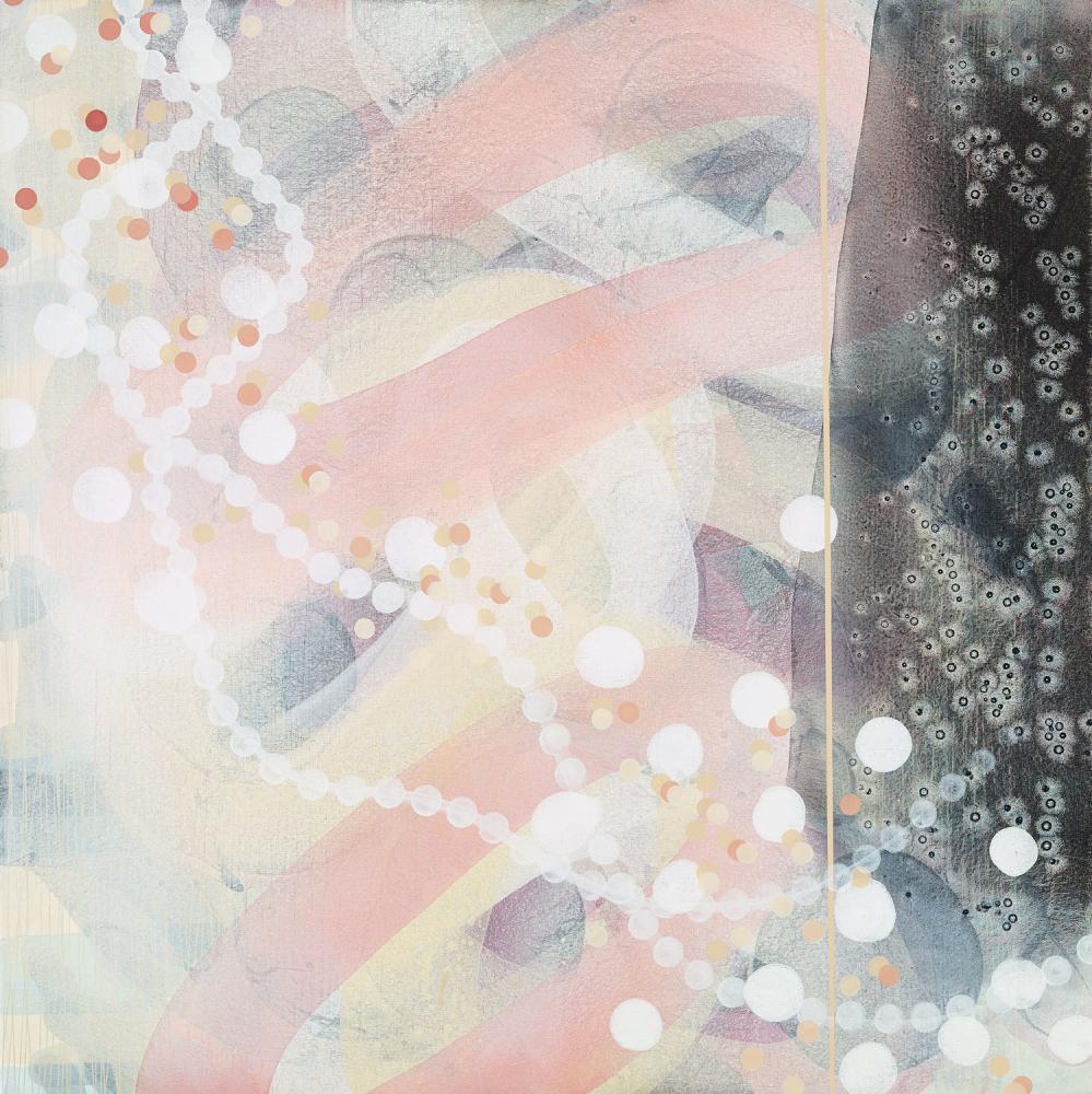 Michelle Concepción, Between the Lines 2, acrylic on canvas, 100 x 100 cm, 2016