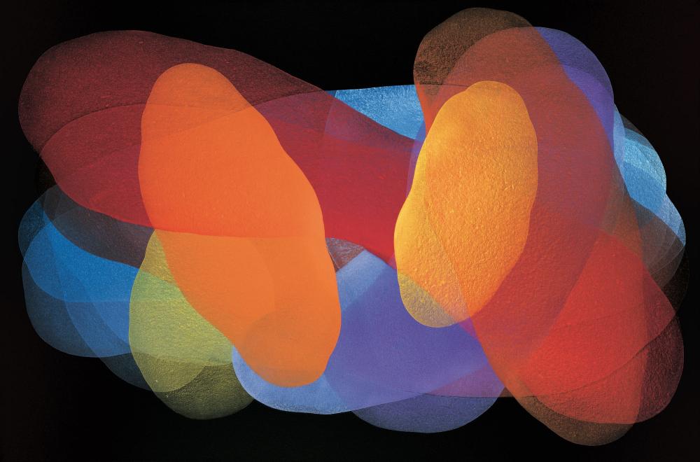 Michelle Concepción, Polychrome 1, acrylic on canvas, 100 x 150 cm, 2007
